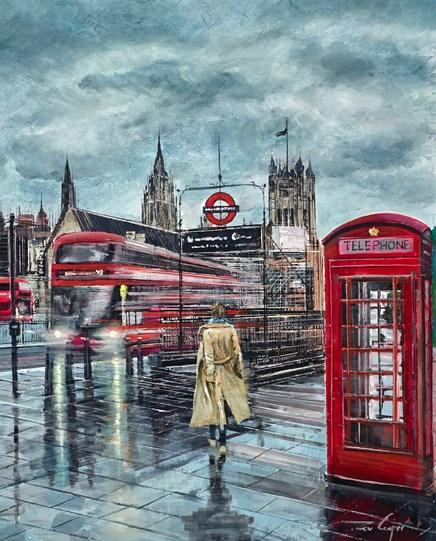Underground by Ziv Cooper - Original Painting on Box Canvas